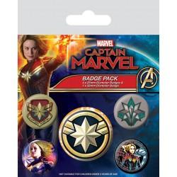 Captain Marvel Pin Badges...
