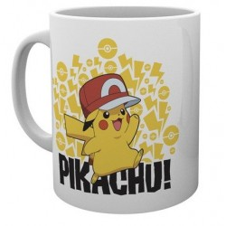 Pokemon Mug Ash Hat Pikachu
