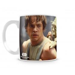 Mug Yoda and Luke Skywalker...