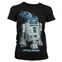 Women Star wars R2-D2 black