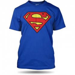 Men T-shirt Superman logo blue