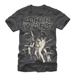 Men Star wars Poster grey